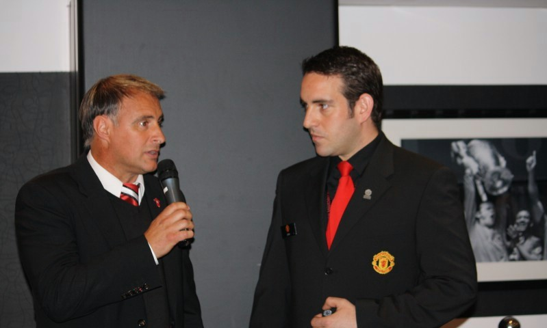 John Norcott and Clayton Blackmore at Old Trafford