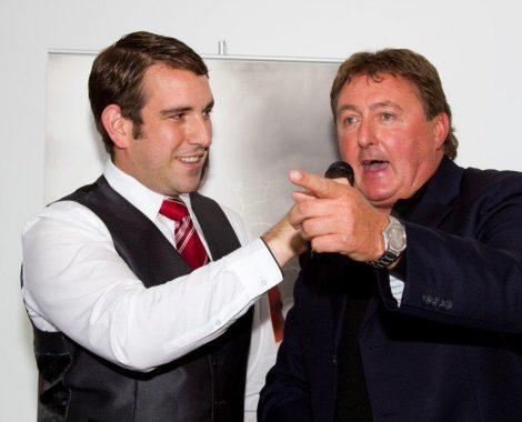 John Norcott interviewing former Man City Player